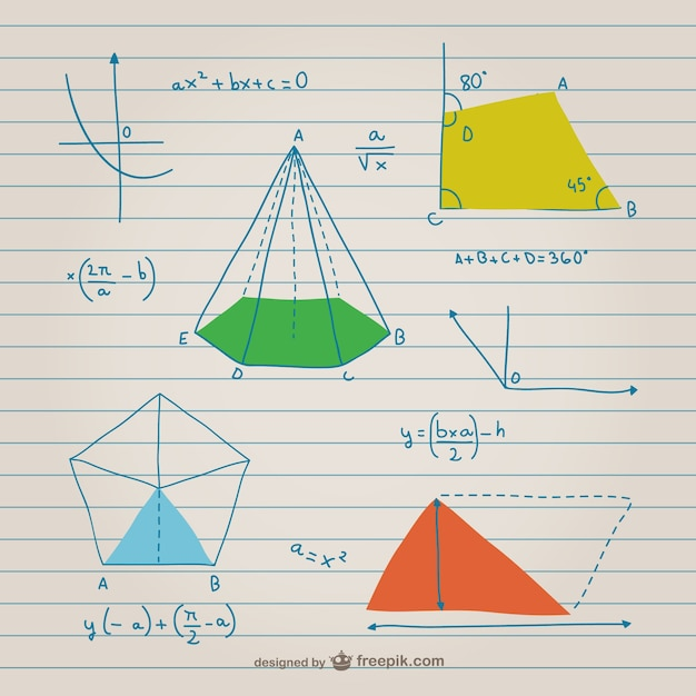 Geometrie und mathematik graphen Kostenlosen Vektoren