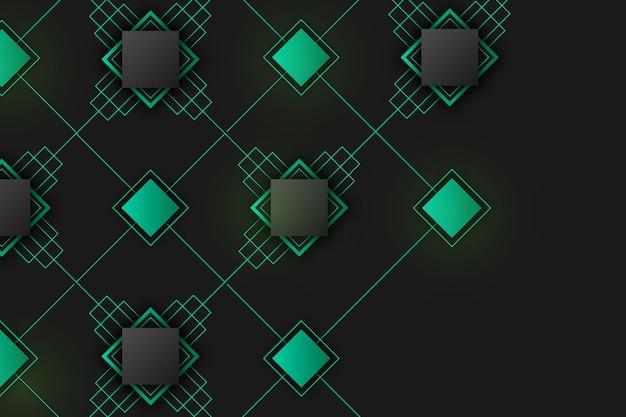 Geometrische formen der steigung auf dunklem tapetenkonzept Kostenlosen Vektoren