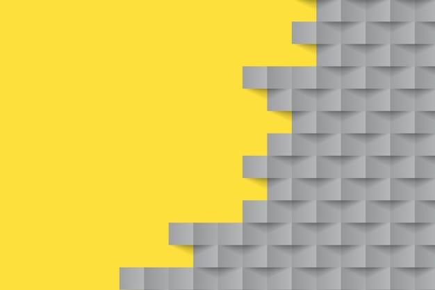 Geometrische formen des gelben und grauen papierarthintergrundes Kostenlosen Vektoren