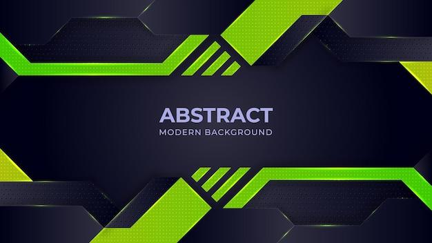 Geometrische formen des grünen gradienten auf grauem schwarzem hintergrund Premium Vektoren