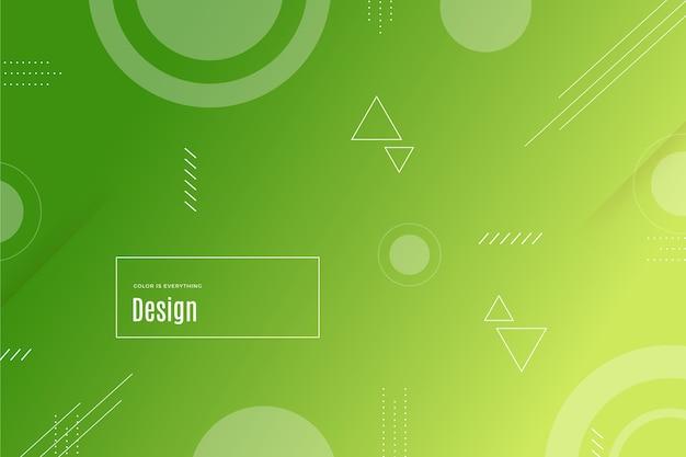 Geometrische formen hintergrund mit farbverlauf Kostenlosen Vektoren