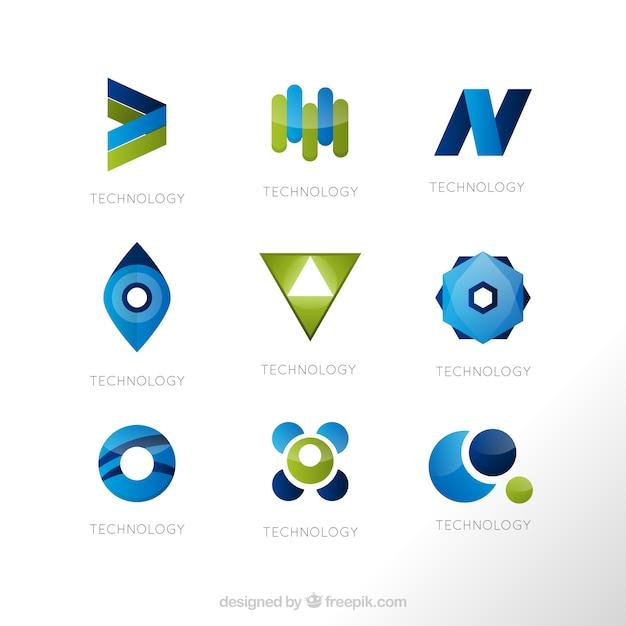 Geometrische Formen Logo-Vorlagen | Download der Premium Vektor