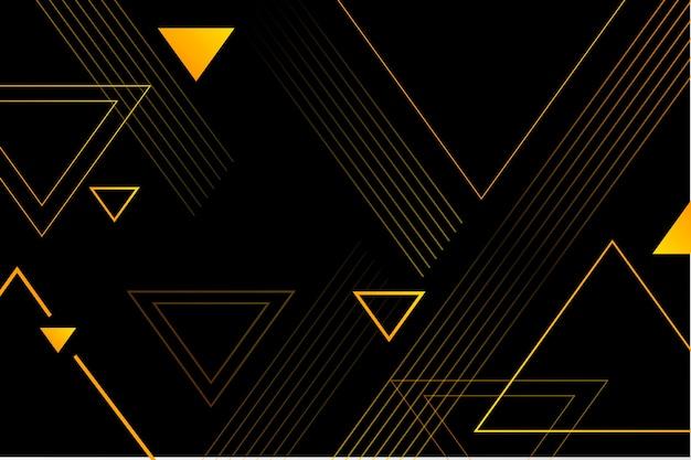 Geometrische formen mit farbverlauf auf dunklem hintergrund Premium Vektoren