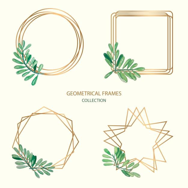 Geometrische framesammlung Premium Vektoren