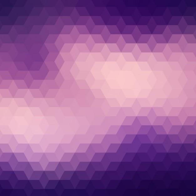 Geometrische hintergrund in verschiedenen lila tönen Kostenlosen Vektoren