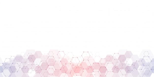 Geometrische hintergrundbeschaffenheit mit molekülstrukturen und verfahrenstechnik. Premium Vektoren