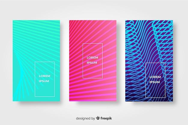 Geometrische linien broschüre gesetzt Kostenlosen Vektoren