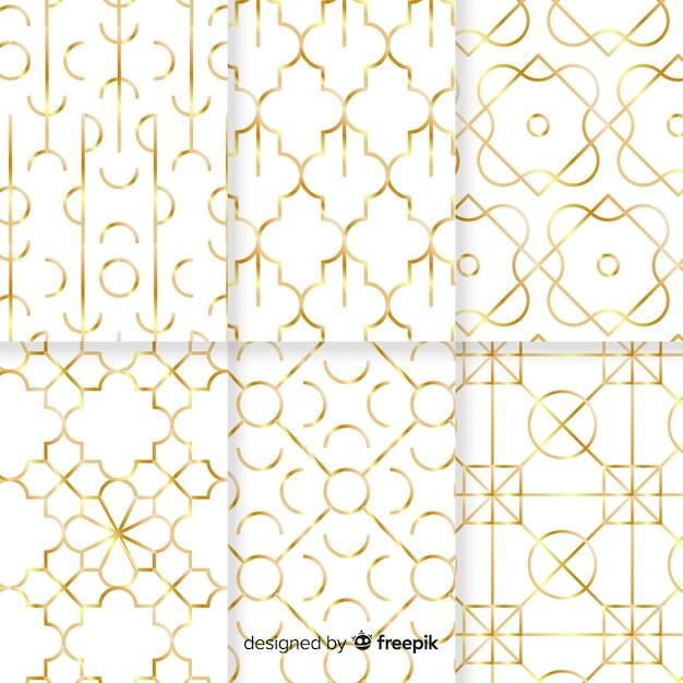 Geometrische luxusmustersammlung Kostenlosen Vektoren