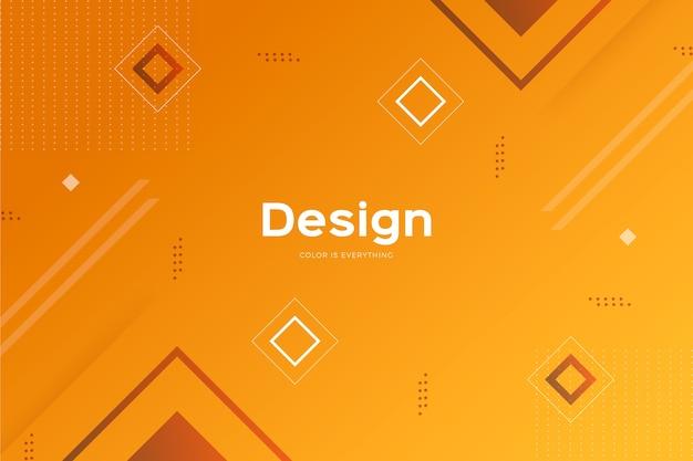 Geometrische modelle mit farbverlauf hintergrund Kostenlosen Vektoren