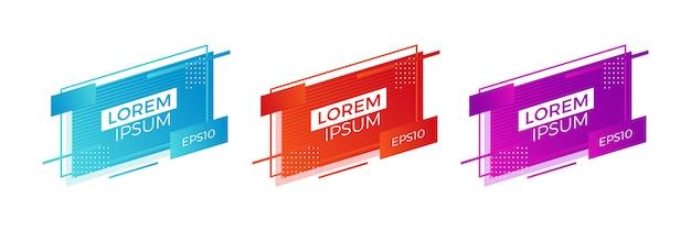 Geometrische moderne banner zum verkauf Premium Vektoren