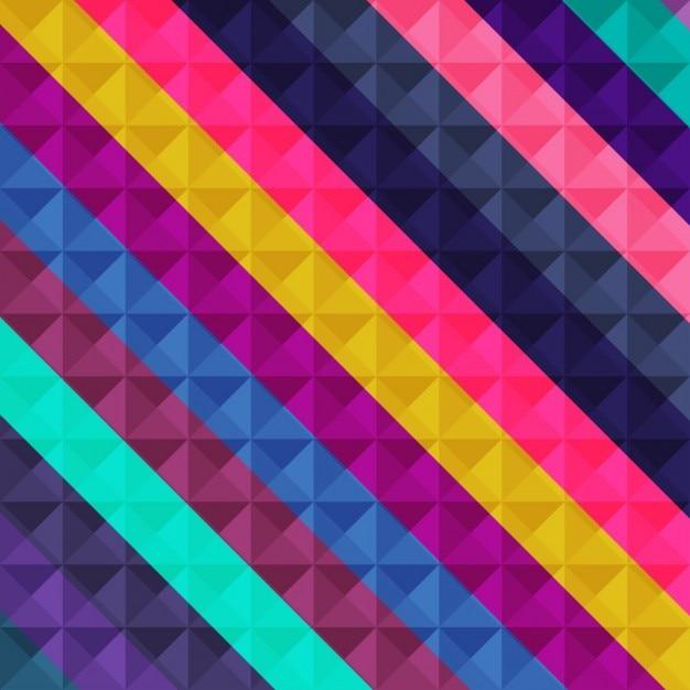 Geometrische mosaik hintergrund bunt Kostenlosen Vektoren