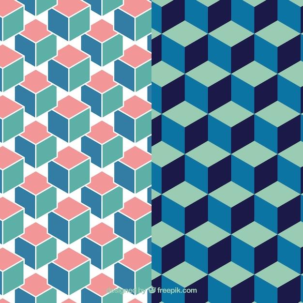 geometrische muster pack download der kostenlosen vektor. Black Bedroom Furniture Sets. Home Design Ideas