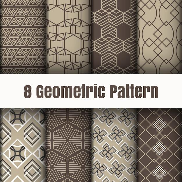 Geometrische mustertapetenhintergrund-oberflächenbeschaffenheiten Premium Vektoren