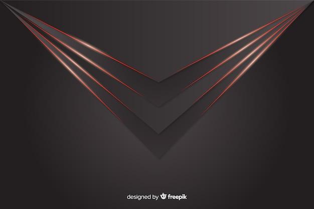 Geometrische rote lichter auf grauem hintergrund Kostenlosen Vektoren