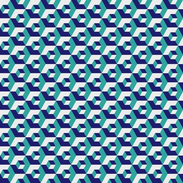 Geometrische sechseckige, grüne farbgitterbeschaffenheit, nahtloses hexagon Premium Vektoren
