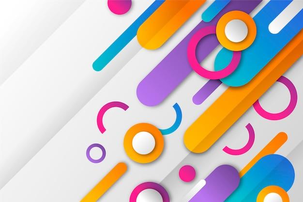Geometrische tapete mit farbverlauf Kostenlosen Vektoren