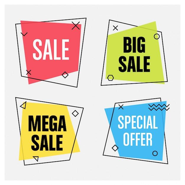 Geometrische Verkauf Banner Kostenlose Vektoren