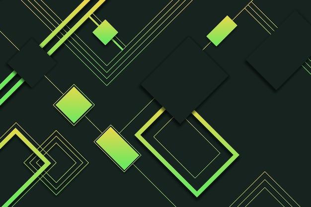 Geometrische verlaufsformen auf dunklem hintergrund Kostenlosen Vektoren