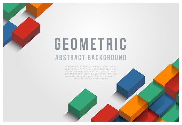 Geometrischen abstrakten hintergrund Premium Vektoren