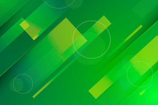 Geometrischer abstrakter grüner hintergrund Kostenlosen Vektoren