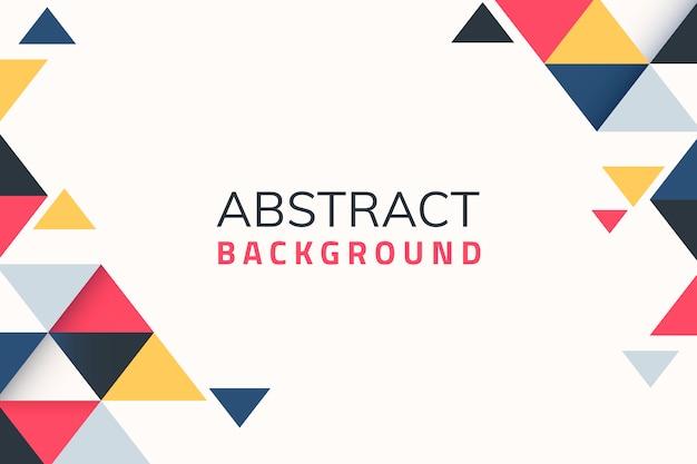 Geometrischer abstrakter hintergrund Kostenlosen Vektoren