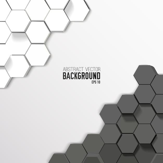 Geometrischer abstrakter sechseckiger hintergrund Kostenlosen Vektoren