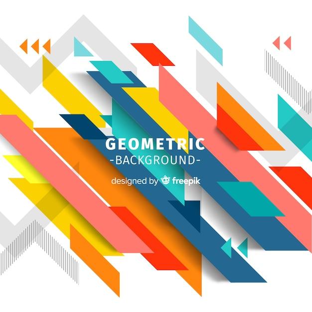 Geometrischer bunter Hintergrund Kostenlose Vektoren