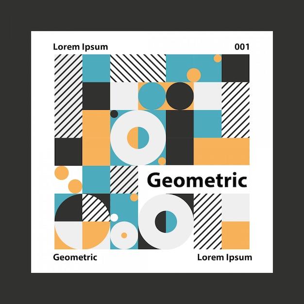 Geometrischer bunter hintergrund Premium Vektoren
