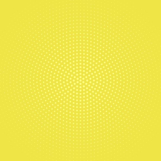 Geometrischer einfarbiger runder punktmusterhalbtonhintergrund Premium Vektoren