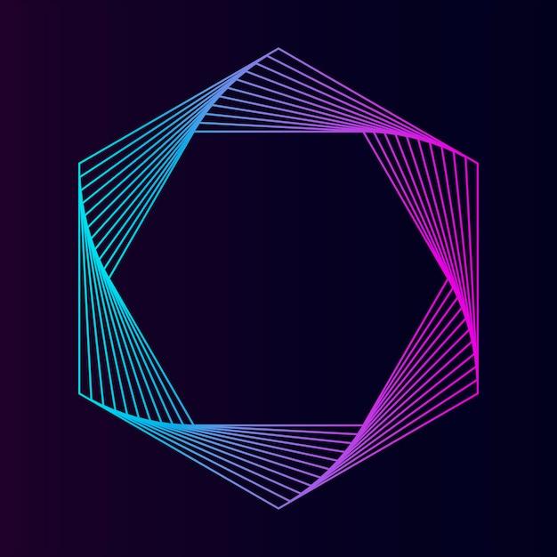 Geometrischer Elementvektor des abstrakten Hexagons Kostenlose Vektoren