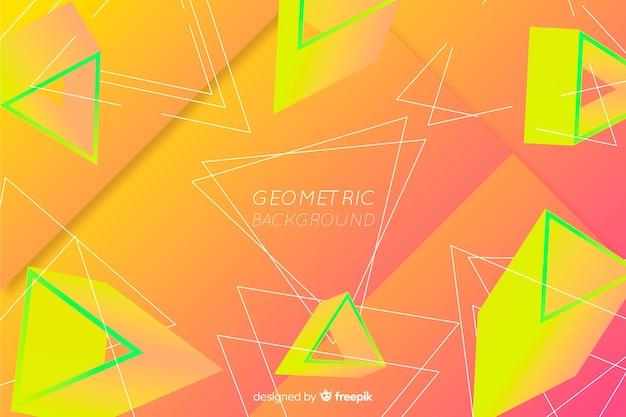 Geometrischer formhintergrund der abstrakten steigung Kostenlosen Vektoren