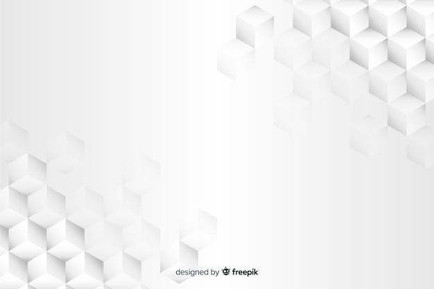 Geometrischer formhintergrund in der papierart Kostenlosen Vektoren