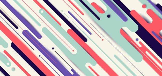 Geometrischer hintergrund der abstrakten dynamischen gerundeten linien der bannerwebschablone mit dem platz für sie text. Premium Vektoren