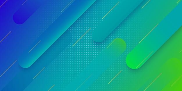 Geometrischer hintergrund der modernen steigung für plakatabdeckungsdesign Premium Vektoren