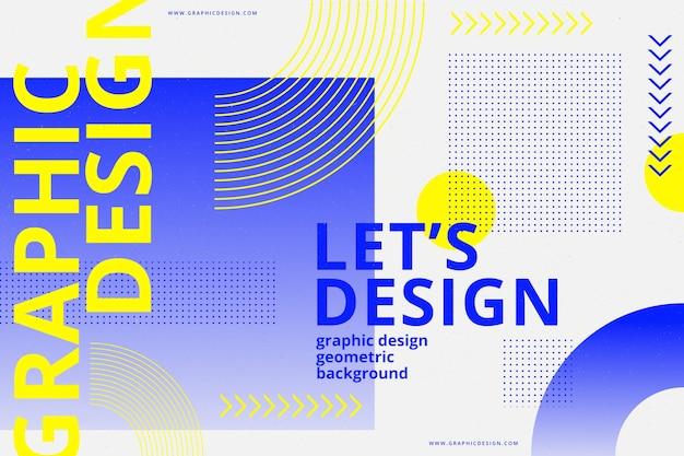 Geometrischer hintergrund des grafikdesigns Kostenlosen Vektoren