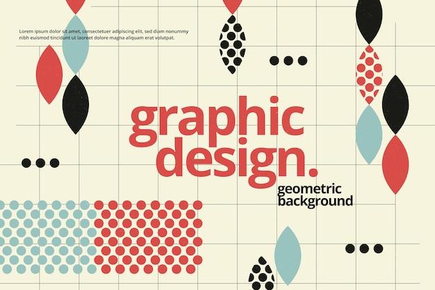 Geometrischer hintergrund des grafikdesigns Premium Vektoren