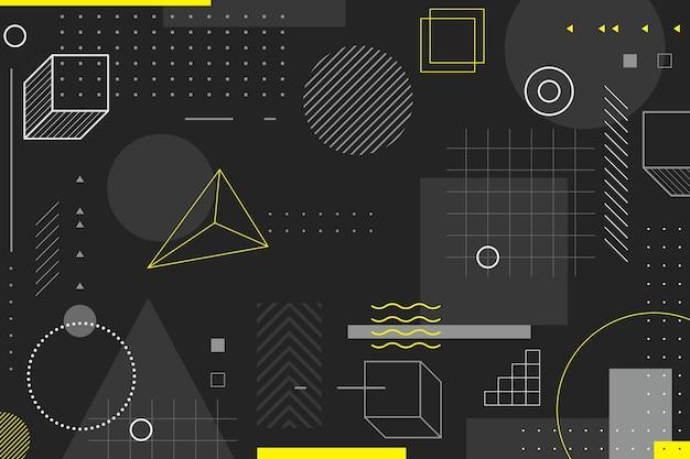 Geometrischer hintergrund im memphis-stil Kostenlosen Vektoren