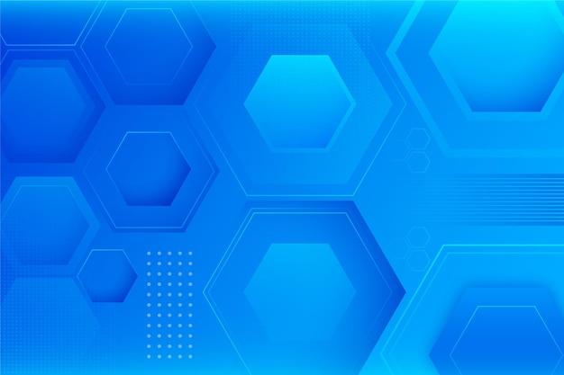 Geometrischer hintergrund mit farbverlauf mit sechseckformen Kostenlosen Vektoren