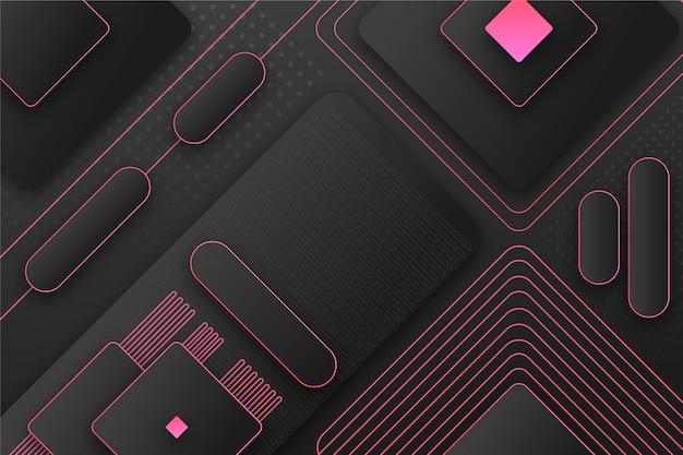 Geometrischer hintergrund mit farbverlauf mit verschiedenen formen Kostenlosen Vektoren