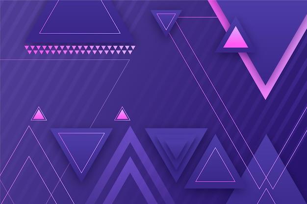 Geometrischer hintergrund mit farbverlauf und dreieckigen formen Kostenlosen Vektoren