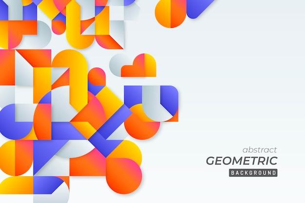 Geometrischer hintergrund mit farbverlauf Kostenlosen Vektoren