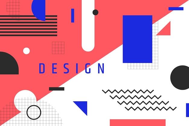 Geometrischer hintergrund und titel des grafikdesigns Kostenlosen Vektoren