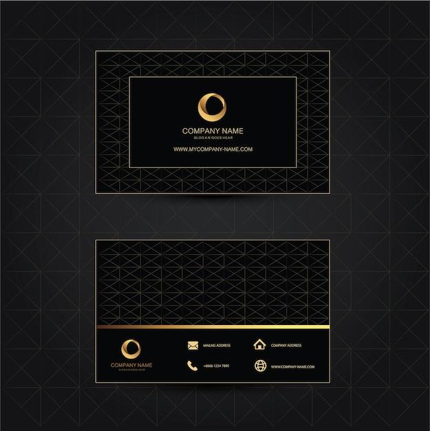Geometrischer Hintergrund Visitenkarten Schablone Flaches
