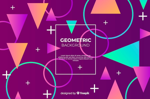 Geometrischer hintergrund Kostenlosen Vektoren