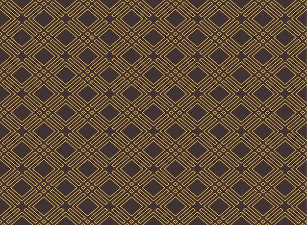 Geometrischer nahtloser art-deco-stil rhombus nahtloser musterhintergrund Premium Vektoren