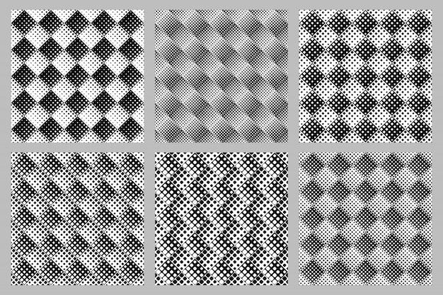 Geometrischer quadratischer musterhintergrund stellte - abstrakte vektordesigne ein Premium Vektoren