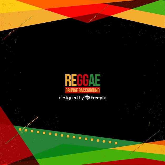 Geometrischer reggaehintergrund Kostenlosen Vektoren