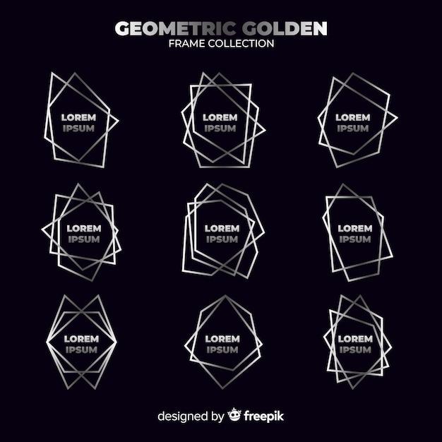 Geometrischer silberner rahmen Kostenlosen Vektoren