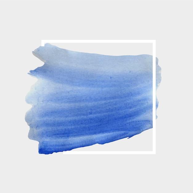 Geometrischer weißer hintergrund des aquarellflecks Kostenlosen Vektoren