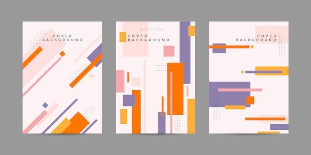 Geometrisches cover-design Premium Vektoren